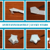 Mini-Sterne Papier | antetanni bastelt (Anleitung)