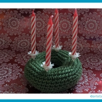 Adventskranz en miniature | antetanni häkelt (Anleitung)