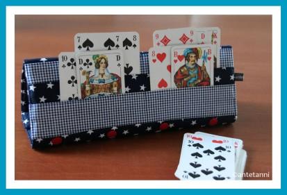 antetanni-naeht-Spielkartenhalter-Kartenhalter-Blau