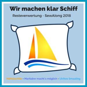 Logo Wir machen klar Schiff, Sew Along 2018, Resteverwertung