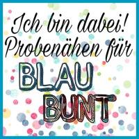 BlauBunt | antetanni freut sich (Probenähen)