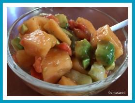 antetanni-kocht-Melonensalat-Papaya-Avocado-Gurke