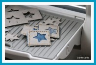 antetanni, Snappap, Nähpapier, Anhänger, Sterne