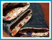 antetanni-naeht-Topflappen-Ofenhandschuhe-Jeans-Futter