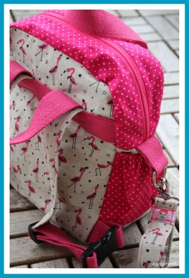 antetanni-naeht-Rucksack-Little-Lialuma-Pink-Flamingos-Taschenanhaenger-seitliche-Gummizugtaschen