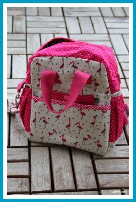 antetanni-naeht-Rucksack-Little-Lialuma-Pink-Flamingos-Vorderseite