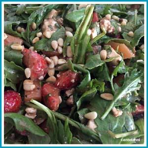 antetanni-kocht-Salat-Rucola-Erdbeeren-Melonen-Kaese_Q