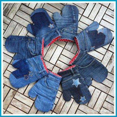 antetanni-naeht_Ofenhandschuhe-Topflappen-Backhandschuhe-Jeans_Sterne-Rot-Weiß_2020-11_Q